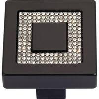 Atlas Homewares 3192 Boutique Crystal 1-3/8 Inch Square Cabinet Knob