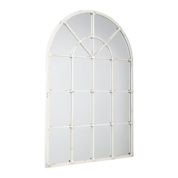"""Oengus Antique White Accent Mirror - 32""""W x 1""""D x 47""""H. Opens flyout."""