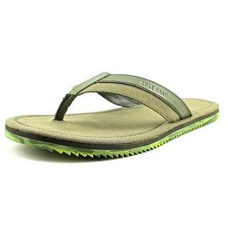 Cole Haan Meyer Thong Men Open Toe Canvas Green Thong Sandal