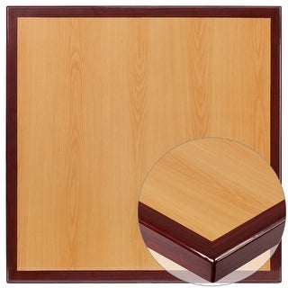 "Link to 30"" Square High-Gloss Cherry & Mahogany Resin Table Top with 2"" Thick Drop-Lip - 30""W x 30""D x 2""H Similar Items in Dining Room & Bar Furniture"