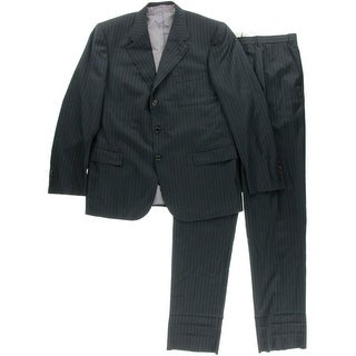 Brioni Mens Wool 2PC Three-Button Suit - 44R