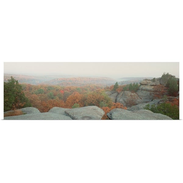 """""""High angle view of a forest, Shawnee Forest, Illinois"""" Poster Print"""