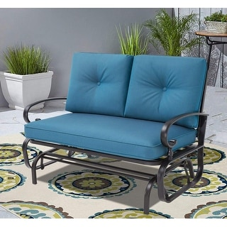 Link to Nista Outdoor Loveseat Glider Chair by Havenside Home Similar Items in Patio Furniture