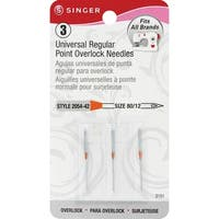 Universal Regular Point Overlock Machine Needles-Size 12/80 3/Pkg