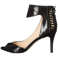 Nine West Womens Instruct Leather Peep Toe Ankle Strap D-orsay Pumps