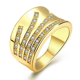 Gold Five Jewels Line Ring