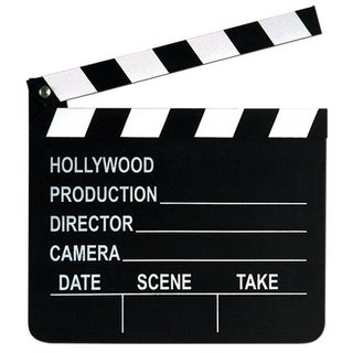 Club Pack of 12 Movie Set Clapboards with Chalk Hollywood Themed Party Decorations 8""