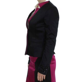 EXTE Black Pink Stretch Blazer Jacket
