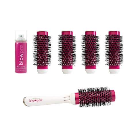 Blowpro Hair Care 8-Piece Click-N-Curl Interchangeable Brush Set (Small) - no color - NoSize