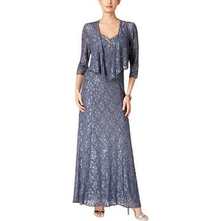 Alex Evenings Womens Dress With Jacket 2PC Embellished