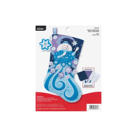 Bucilla Felt Kit Snow Princess Stocking - White
