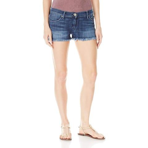 Hudson Jeans Women's Amber Raw Edge Hem 5 Pocket Jean Short, Blue Crest, 27