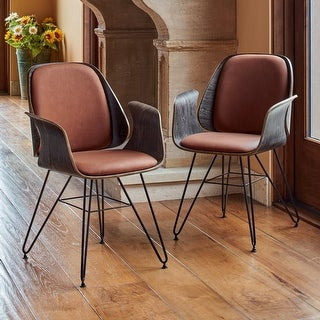 Link to Corvus Marsala Industrial Mid-Century Accent Chair Similar Items in Dining Room & Bar Furniture