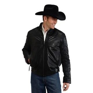 Stetson Western Jacket Mens Leather Zipper Black 11-097-0539-6608 BL