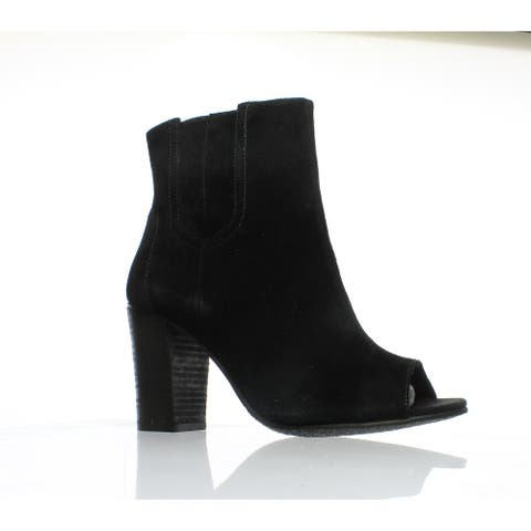 Blondo Womens Paisy Black Suede Ankle Boots Size 6.5