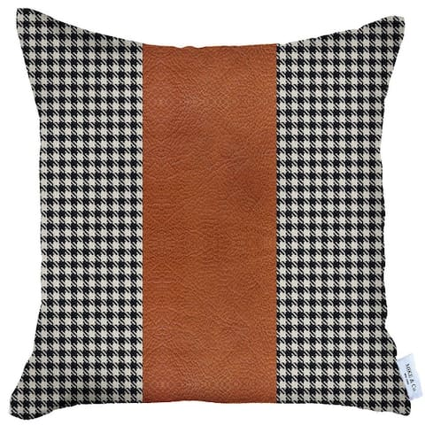 Boho-Chic DecorativeVeganFaux Leather Pillow Covers