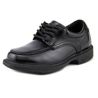 Nunn Bush Bourbon St. Jr. Toddler  Round Toe Leather Black Oxford
