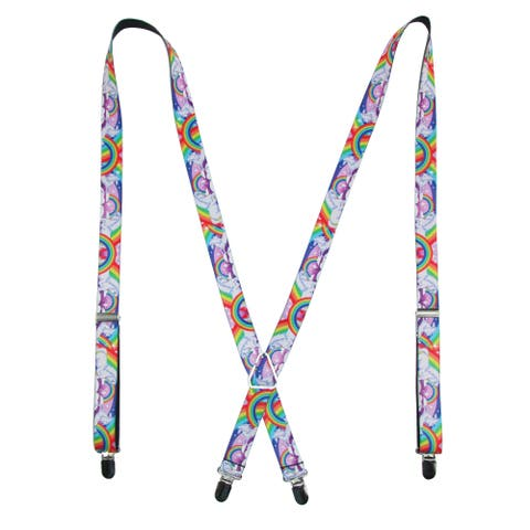 Buckle Down Women's Rainbow Unicorn Novelty Suspenders - one size