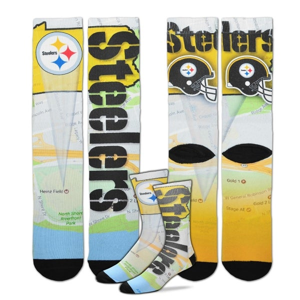 promo code 87147 d22ec Shop Pittsburgh Steelers Roadmap Sublimated Socks, Large (10-13) - Free  Shipping On Orders Over  45 - Overstock - 18680908