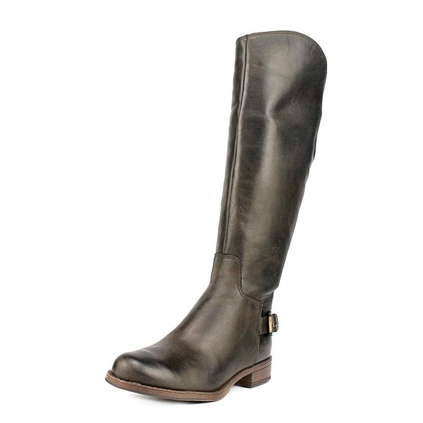GUESS Womens Lurie Leather Almond Toe Knee High Fashion Boots
