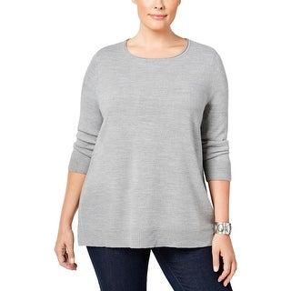 Karen Scott Womens Plus Casual Top Acrylic Knit