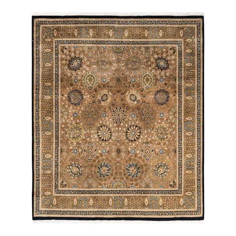 """Mogul, One-of-a-Kind Hand-Knotted Area Rug - Brown, 6' 3"""" x 6' 5"""" - 6'3"""" x 6'5"""""""