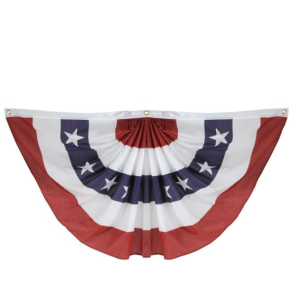 """75"""" Blue and Red Patriotic Americana Bunting Hanging Decoration - N/A"""
