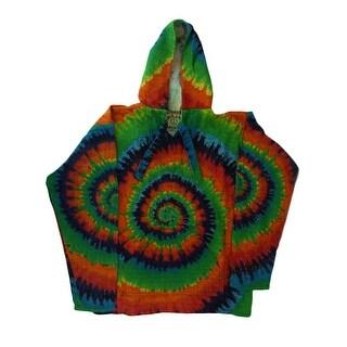 Baja Joe Tie Dye Print Eco-Friendly Cotton Pull-Over Hoodie (4 options available)