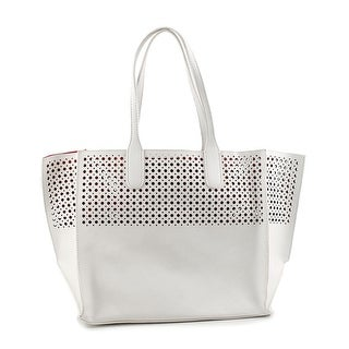 Emilie M. La Mar Perforated Tote Women   Leather White Tote