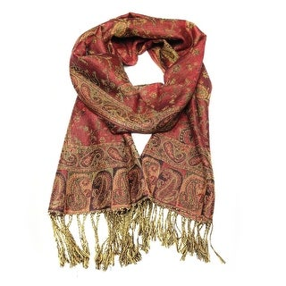 "Link to Reversible Paisley Pashmina Shawl Wrap Elegant Colors - 72"" x 27"" Similar Items in Scarves & Wraps"