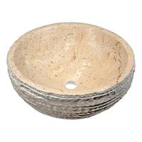 "Anzzi LS-AZ147 Desert 14-1/4"" Stone Vessel Bathroom Sink"