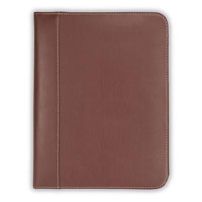 "Samsill 71726 Contrast Stitch Leather Zipper Padfolio - Letter - 8 1/2"" X 11"" Sheet Size"