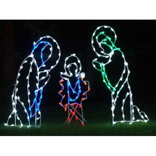 Christmas at Winterland WL-GM101-LED LED Light Three Piece Nativity Scene