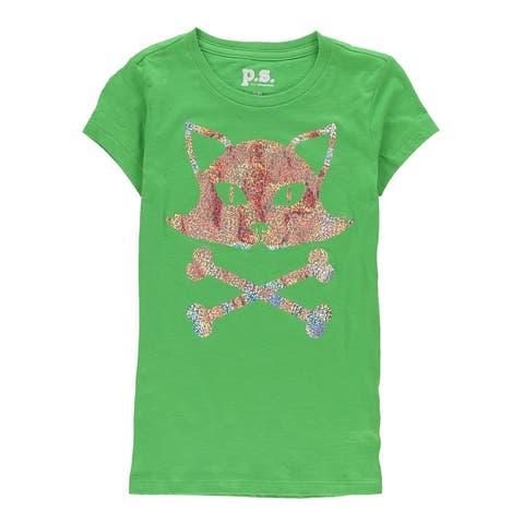 Aeropostale Womens Glitter Skull Embellished T-Shirt