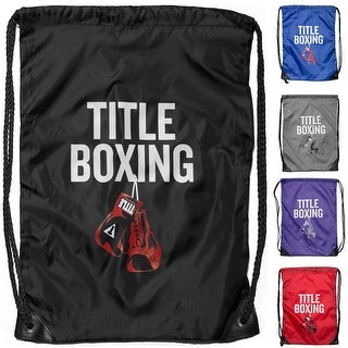 Title Boxing Sack Pack Lightweight Nylon Double-Drawstring Bag - One size