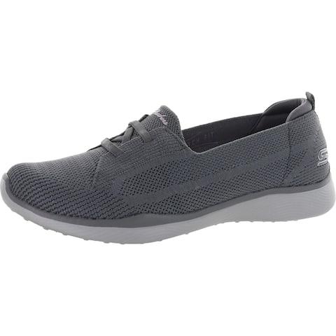 Skechers Womens Microburst 2.0-Irresistible Slip-On Sneakers Fitness Lifestyle - Gray