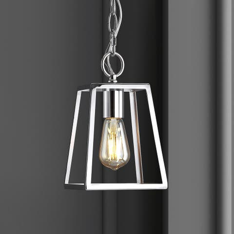 "Ira 6.25"" Adjustable Drop Metal LED Pendant, Chrome by JONATHAN Y"