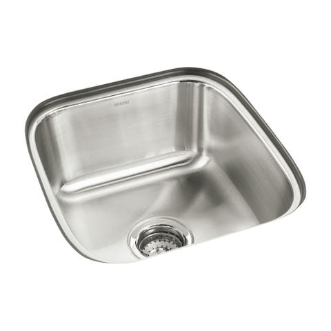 "Sterling 11448 SpringDale 16-1/4"" Single Basin Undermount Stainless Steel Bar Sink with SilentShield -"