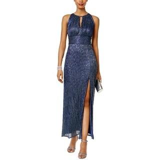 R&M Richards Womens Petites Evening Dress Metallic Empire Waist