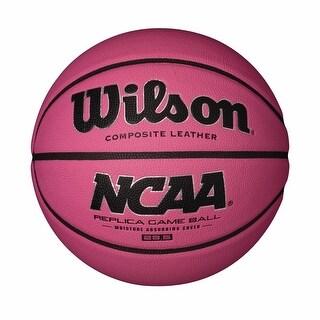 Wilson WTB0731IDPINK 28.5-Inch NCAA Pink Replica Game Basketball