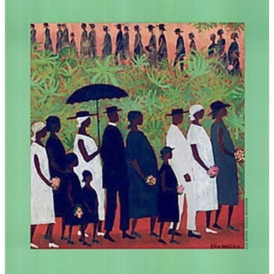 ''Funeral Procession'' by Ellis Wilson African American Art Print (18.75 x 18 in.)