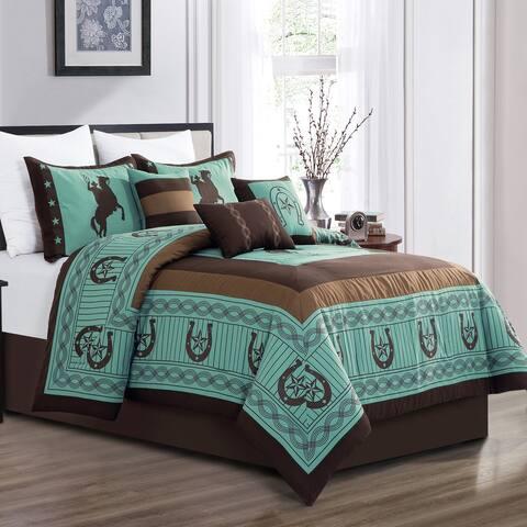 HORSE RIDER Luxury 7 Piece Comforter
