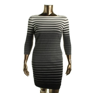 Lauren Ralph Lauren Womens Petites Ombre Striped Sweaterdress - pxl