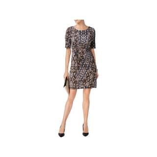 1e9b3ac55806d Connected Apparel Blue Women s Size 6 Drape Lace Sheath Dress. SALE. Quick  View