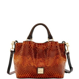 Dooney & Bourke Snake Mini Barlow (Introduced by Dooney & Bourke at $248 in Aug 2016) - Saddle