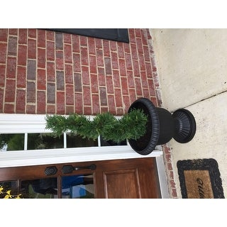 3-foot Artificial Cypress Spiral Topiary Tree in Pot (Set of 2)