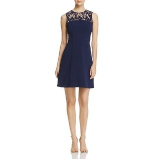 MICHAEL Michael Kors Womens Cocktail Dress Laser Cut Sleeveless