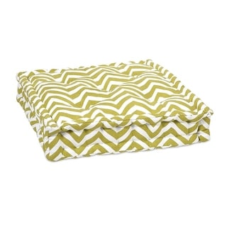 "20"" Sage Green and White Bold Chevron Floor Cushion"