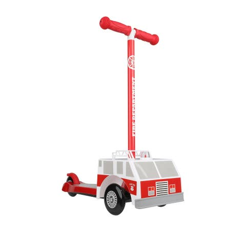 Dimensions 3D Firetruck Tilt and Turn Scooter
