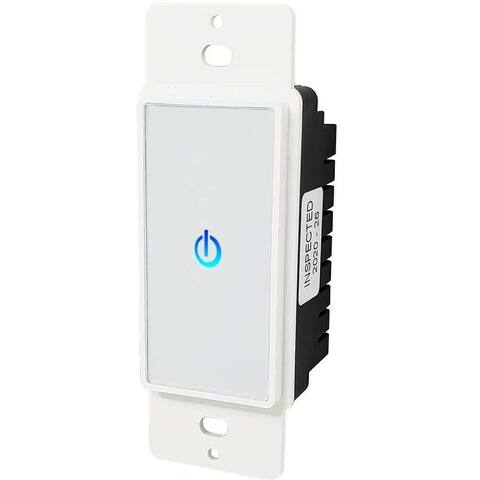 New Touch Light Switch for Wall Panel Touch Lighting Control, Backlit Glass Touch Switch, Panel Light Switch, White (1 Pack)